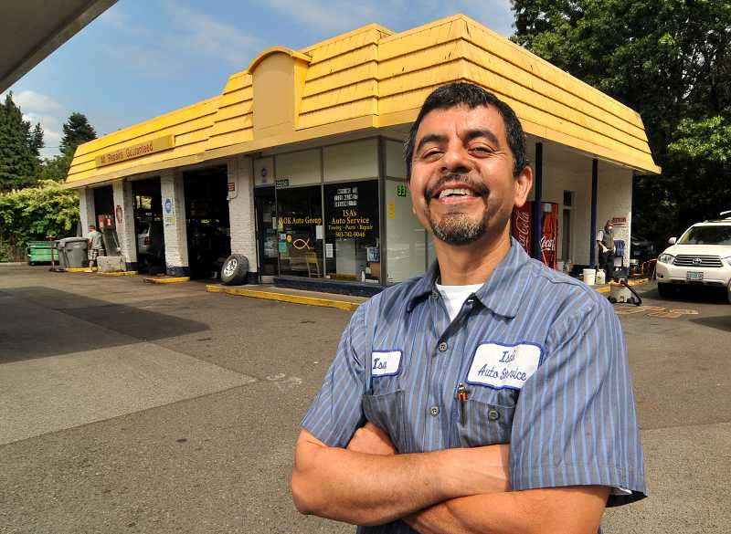 by: TIDINGS PHOTO: VERN UYETAKE - Isa Flores is sad to leave West Linn, where he has worked for more than 20 years, but he remains positive about the future.