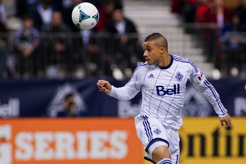 by: PHOTO BY BOB FRID - VANCOUVER WHITECAPS 2013 - ALL RIGHTS RESERVED) - Vancouver rookie Erik Hurtado scored 54 goals and had 23 assists in just over three years at Westview.