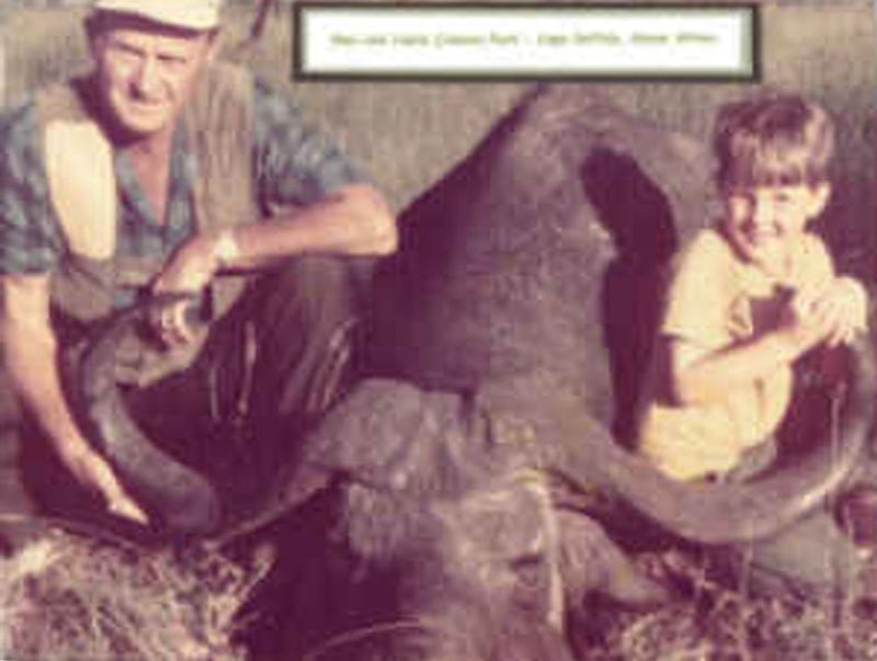 by: CONTRIBUTED BY JANE PARK. - Glen Park with his son on safari in Kenya in 1972.