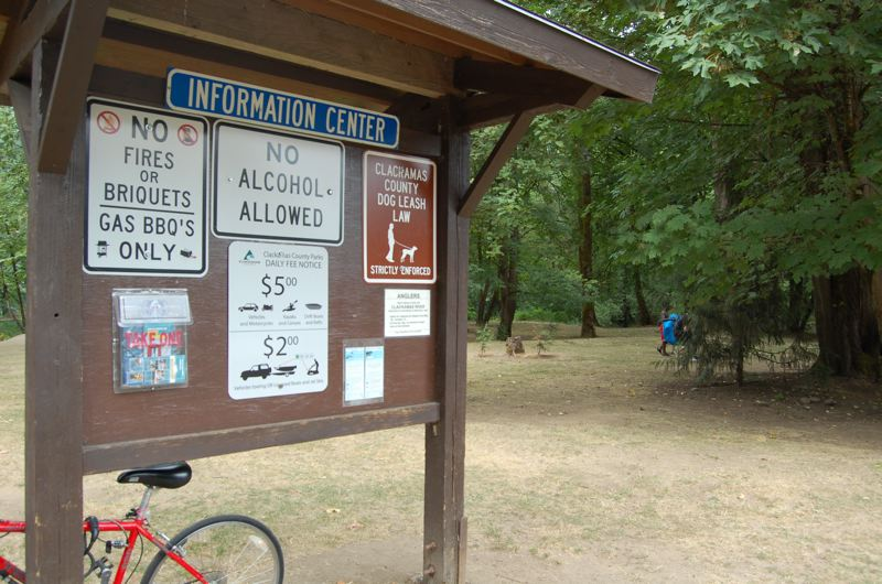by: PHOTO BY: RAYMOND RENDLEMAN - Posted rules, seen here last month at Carver Park, had already been in place before county commissioners enacted rules allowing for alcohol searches. Under an amended ordinance, anyone possessing alcohol on county park property without a permit will be asked to leave.