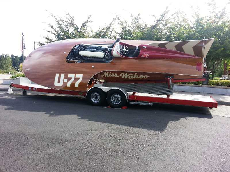 by: SUBMITTED - Miss Wahoo opened the entire weekend of festivities on Saturday. It looks like Flash Gordon could have been the pilot for this classic hydroplane.