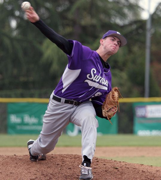 by: TIMES FILE PHOTO - Former Sunset pitcher Dylan Hollister hopes to continue his baseball career for as long as possible, starting at Western Nevada College.