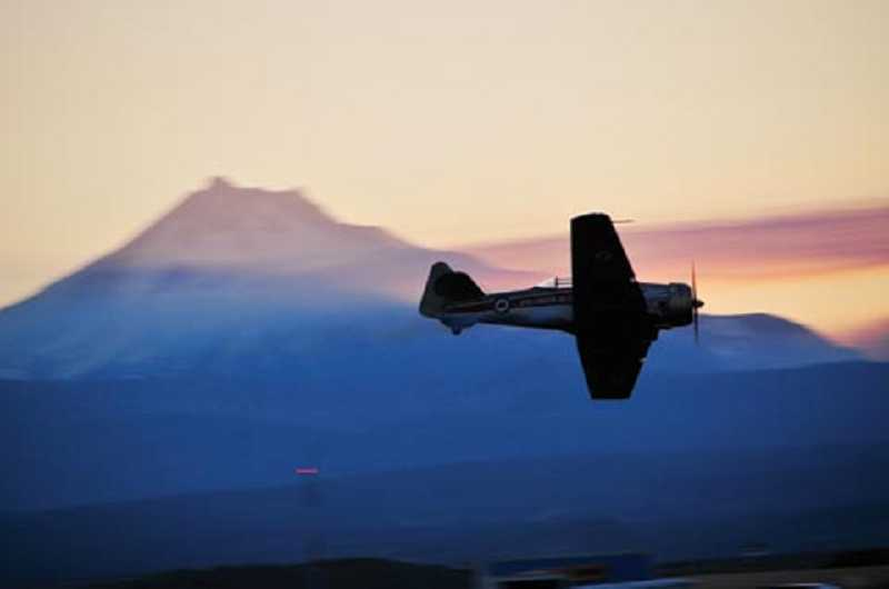 by: BILL VOLLMER PHOTO - A shot from last year's air show's evening performance. The 14th Annual Airshow of the Cascades promises two days of fun and excitement.