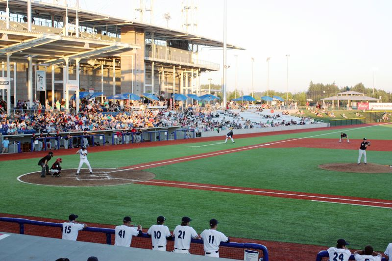 by: HILLSBORO TRIBUNE PHOTO: DOUG BURKHARDT - One of the original objectives in the citys 2020 Vision and Action Plan called for attraction and promotion of major athletic events. In June, this key goal was realized when the new Hillsboro Ballpark was completed and the Hillsboro Hops took the field for their inaugural season.