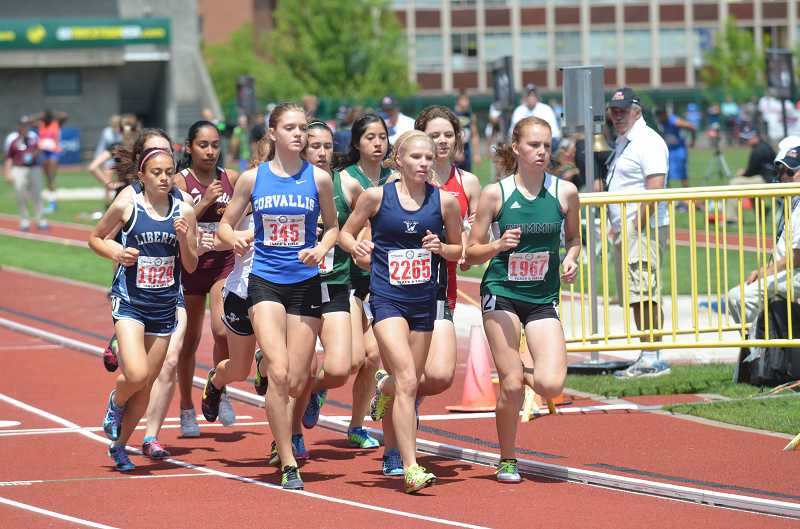 by: JEFF GOODMAN - Taryn Rawlings (2265), shown at the Class 5A state championships in Eugene this past spring, placed third in her division at last year's Night Meet in Wilsonville. This year's edition of the annual event is slated for Aug. 29.