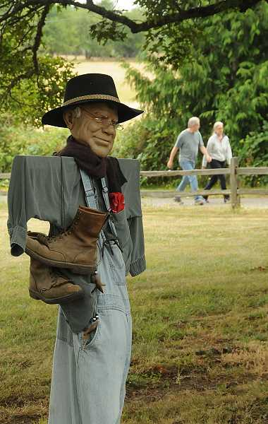 by: VERN UYETAKE - More than 90 scarecrows will greet visitors at the upcoming open house at Luscher Farm. The event will also feature a petting zoo, crafts, a plant sale and vegetable and smoothie tastings.