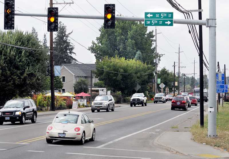 by: GARY ALLEN - Many landowners involved - If passed by the Dundee City Council, a local improvement district will pave the way for new curbs, gutters and sidewalks on a stretch of Highway 99W from First Street to Niederberger Road and Parks Way.