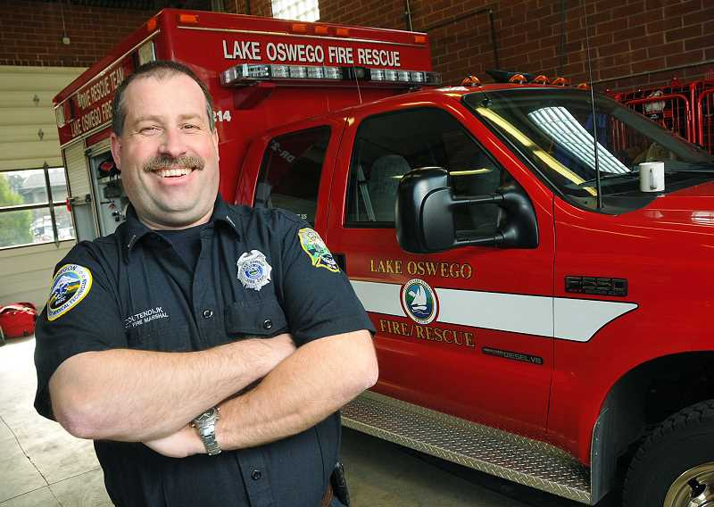 by: VERN UYETAKE - Service - Newberg resident Gert Zoutendijk was recently named fire marshal of the Lake Oswego Fire Department. He also serves as a volunteer in the Newberg Fire Department.