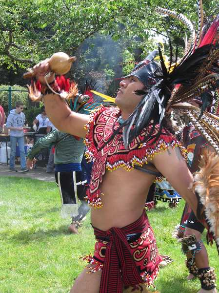 The Mexica Tiahui dance troupe will perform Saturday, Sept. 7, at 11:30 a.m. at Locust Street Park in Canby.