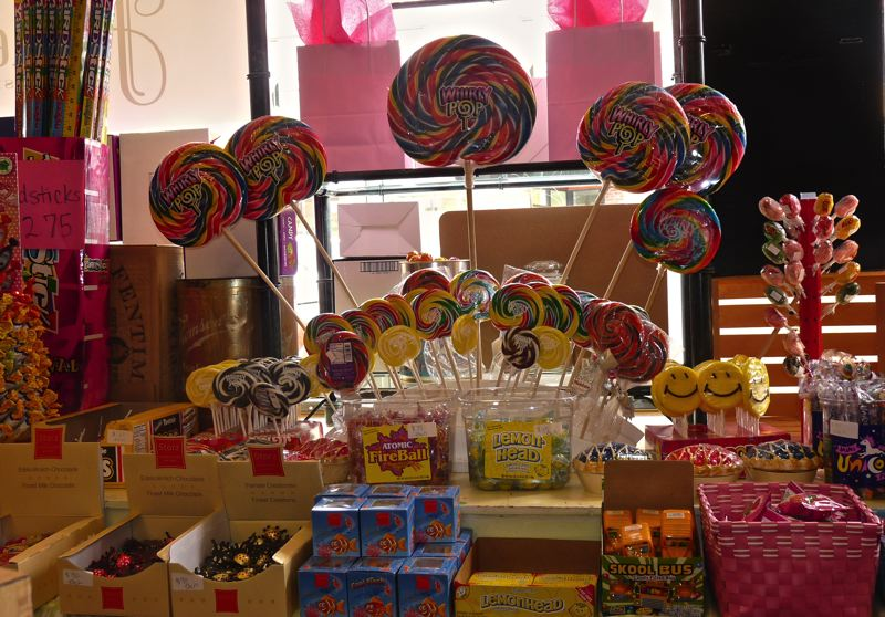 by: CONNECTION PHOTO: DREW DAKESSIAN - Some of the scrumptious sweets available for purchase at Hattie's Sweet Shop, formerly known as Sweets, Etc.