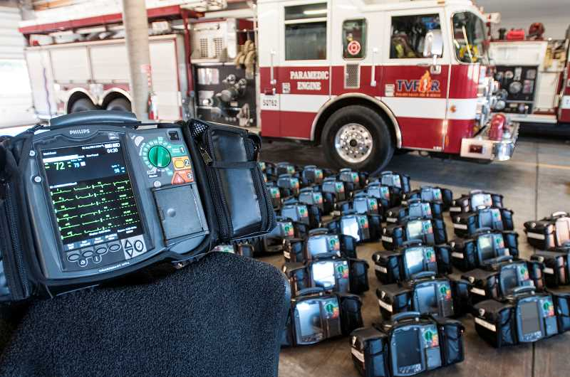 by:  TVF&R - Tualatin Valley Fire & Rescue deployed 46 Philips HeartStart MRx cardiac monitor/defibrillators to its paramedic fire engines, trucks and medic units.