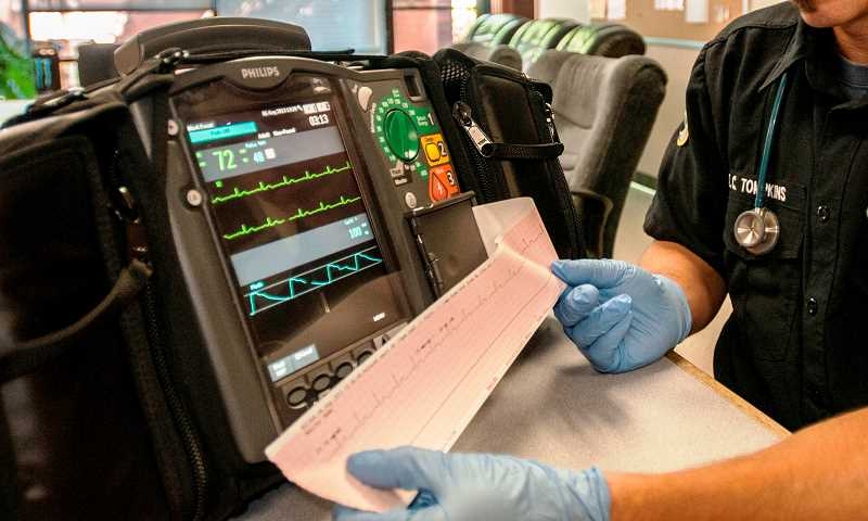 by: TVF&R - The devices are capable of wirelessly transmitting EKG results from the field to the emergency room.