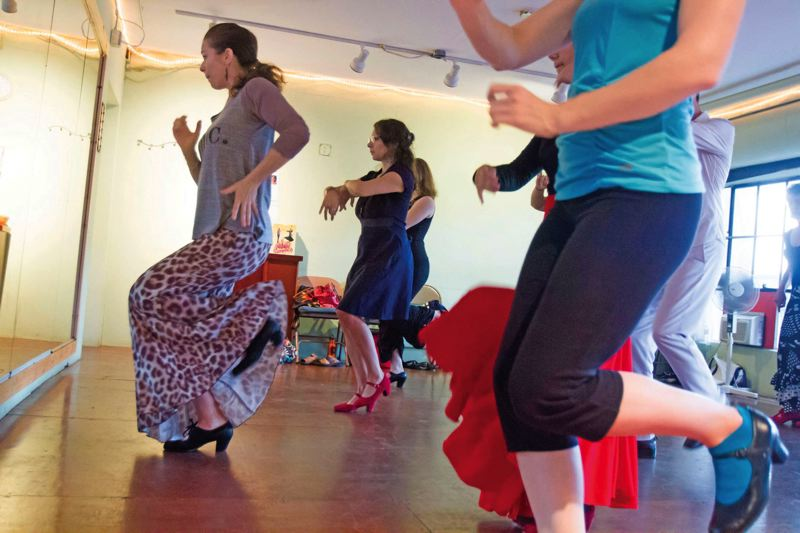 by: TRIBUNE PHOTO: JONATHAN HOUSE - Laura Onizuka operates Portland Flamenco Events, teaching and holding workshops at a local studio and organizing trips to Spain.