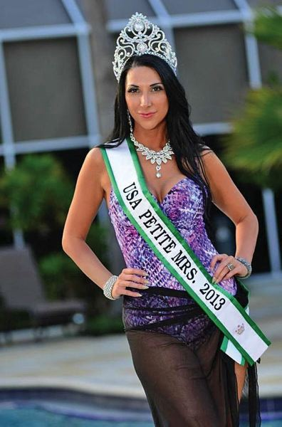 by: COURTESY OF JAMIE ONEILL - Jamie ONeill of Portland, a makeup artist and wife/mother and business owner, has been named Mrs. USA Petite.