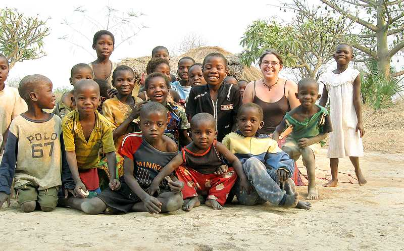 by: JESSICA MASLEN - With her people - Jessica Maslen is working in the Zambian district of Mansa to build an orphanage and school for the people she has grown to love since being stationed there as a Peace Corps volunteer.