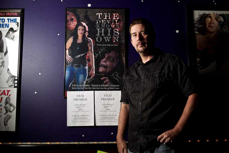by: TIMES PHOTO: JAIME VALDEZ - Jason Hawkins wrote and directed the film 'The Devil Knows His Own,' a horror film shot in and around Tigard. Hawkins said he wants to bring more professionally made films to the Portland area. 'The Devil Knows His Own' will premiere at The Joy Cinema in Tigard on Saturday at 5 p.m.
