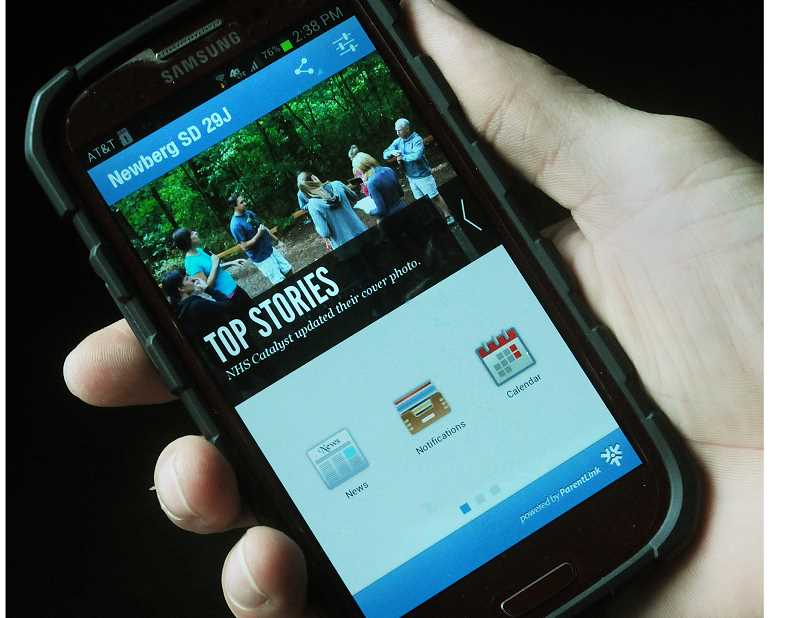 by: GARY ALLEN - In the palm of your hand - The Newberg School District has released a mobile app to help students, parents and members of the community more easily connect with its most sought after information. The free app features push notifications for instant alerts from school, calendar information, school and district news, a tip line tool, school directories and more.