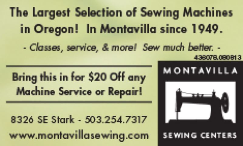 (Image is Clickable Link) Montavilla Sewing Centers