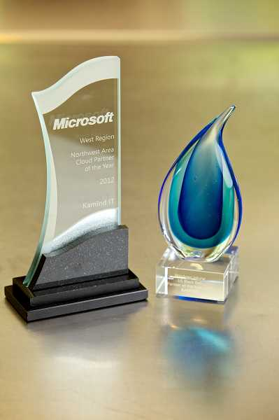 by: SUBMITTED PHOTO - These two major awards from Microsoft are a strong indication of the growing reputation of KAMIND.