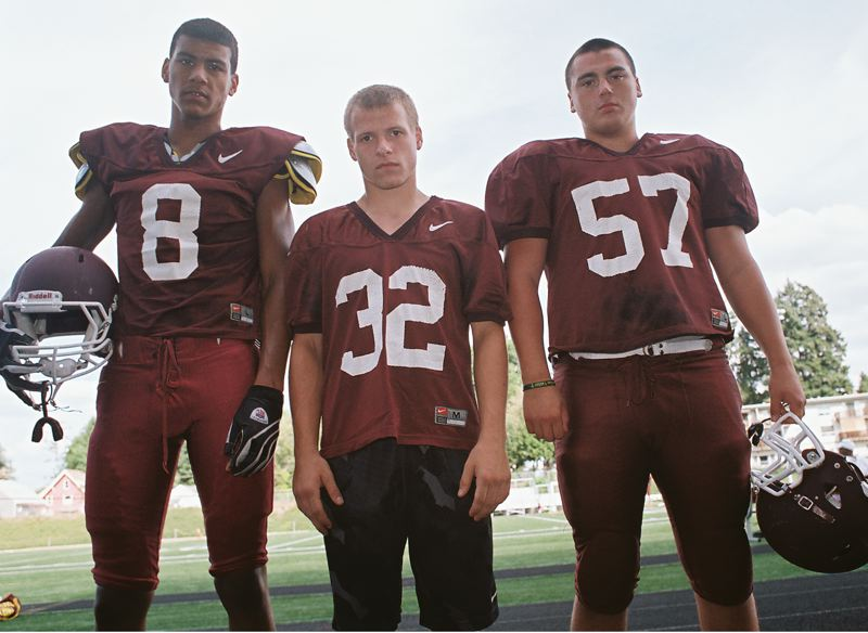 by: JOHN DENNY - Milwaukie senior co-captains (from left) Tyler Spencer, Chris Besaw and Elias Brezai say they believe that Milwaukie will have another good season in football this fall, despite a rough start.