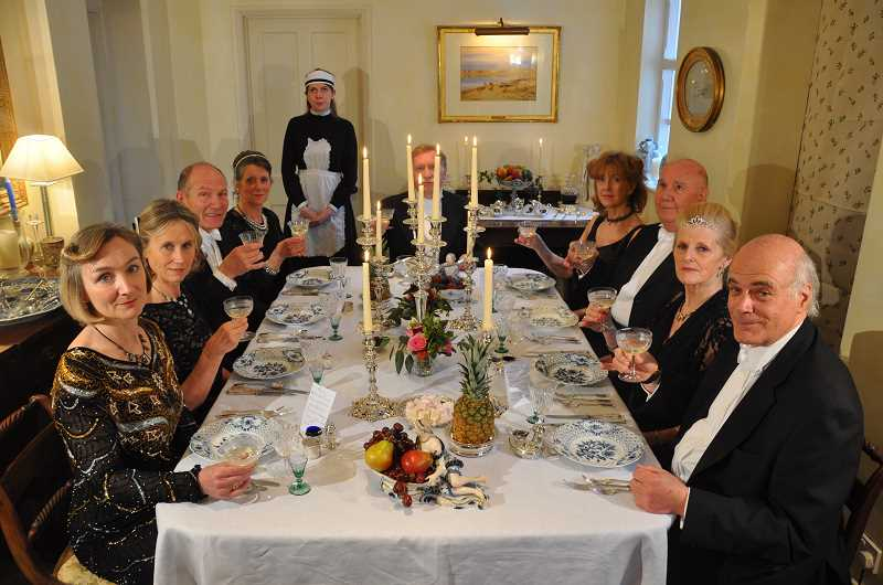 by: SUBMITTED PHOTO: TASTING ENGLAND - Tina Boughey and Jennifer Aston Mills, of Tasting England, will present a Downton Abbey themed dinner and tea at In Good Taste in October. Sign up now for the taste adventure.