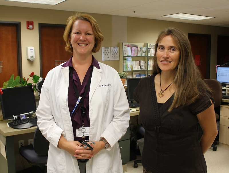 by: SUSAN MATHENY/MADRAS PIONEER - Drs. Wendy Grace, left, and Katrina Terry have joined Mosaic Medical in Madras. Both will provide primary care to patients of all ages.