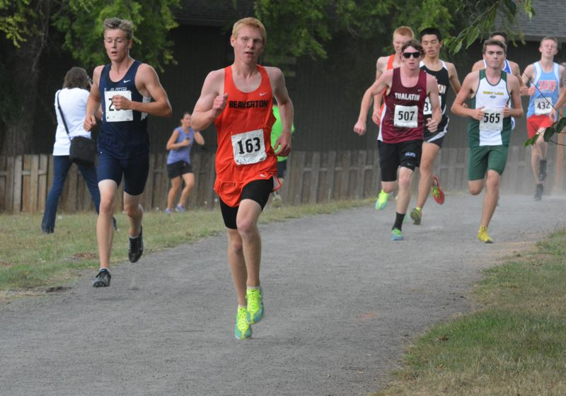 by: TIMES PHOTO: MATT SINGLEDECKER - Beaverton sophomore Daniel Larabee finished ninth at the Tualatin Invite just six seconds behind his older brother, Drew.