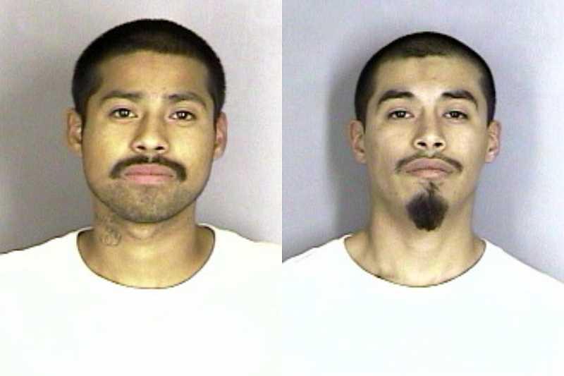 by: SUBMITTED - Eddie Lopez (left) and his brother Lorenzo Lopez, both of Gervais, were arrested Friday and face charges in the murder of 23-year-old Charlie Rivera, of Woodburn.