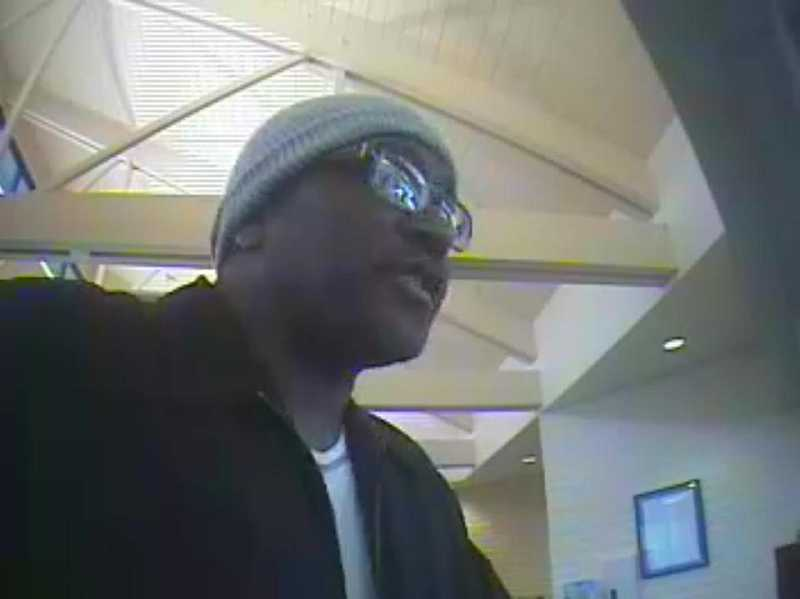 Police say this man robbed a Columbia Bank in Tigard with a knife on Friday, Sept. 13. Anyone with information is asked to call Tigard Police at 503-639-6168