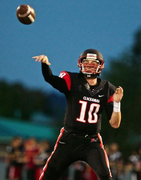 by: PHOTO BY JAIME VALDEZ - CLACKAMAS QUARTERBACK CADE WILKINS