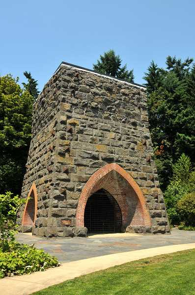 by: SUBMITTED FILE PHOTO - Lake Oswego's iron furnace is among historical features being considered for inclusion in the Willamette Falls National Heritage Area, which will eventually be proposed to Congress.