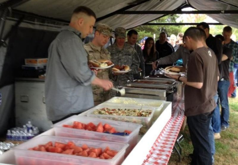 by: PHOTO BY: MRS. LISA MARELLA - Tony's Bistro and Catering provided an abundance of food for the soldiers, families and guests of the 364th Civil Affairs Brigade during its Army Family Day Celebration last Sunday, Sept. 15, at Happy Valley Park.