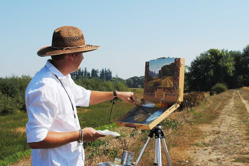 by: COURTESY PHOTO - Artists will paint in the open, where anyone can watch their progress, at this weekends Plein Air competition in Hillsboro.