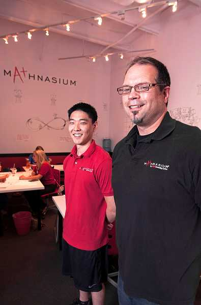by: PAMPLIN MEDIA GROUP: JOSH KULLA - Lake Oswego Mathnasium owner and Center Director Bruce Withycombe and Assistant Director James Kim recently opened a Mathnasium in West Linn.