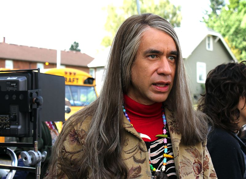 by: OUTLOOK PHOTO: CARI HACHMANN - Fred Armisen, in costume as Candace, is one-half of the Portlandia feminist bookstore duo (with Carrie Brownstein).