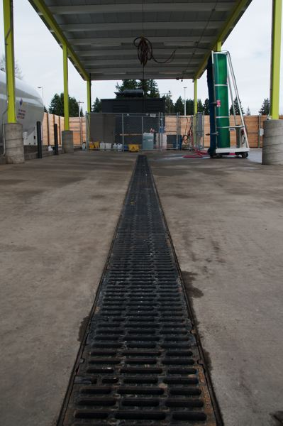 by: SPOKESMAN PHOTO: JOSH KULLA - Part of SMART's fueling facilities at its new Boberg Road headquarters in Wilsonville.
