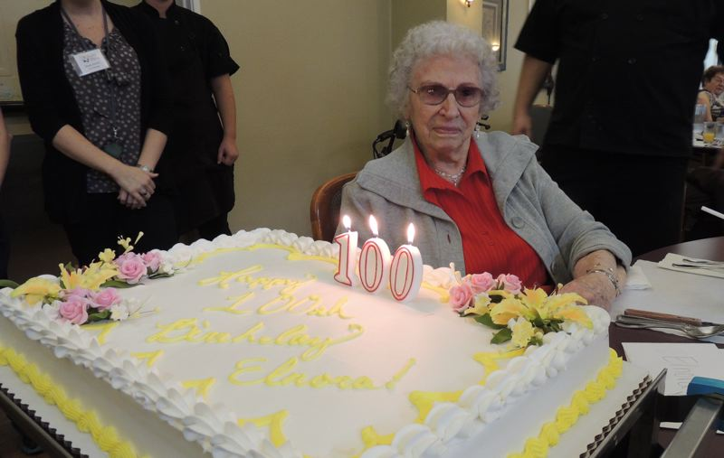 by: PHOTO COURTESY: MCLOUGHLIN PLACE - McLoughlin Place was honored to have been able to spend Elnora Gipson's 100th birthday celebrating with her.
