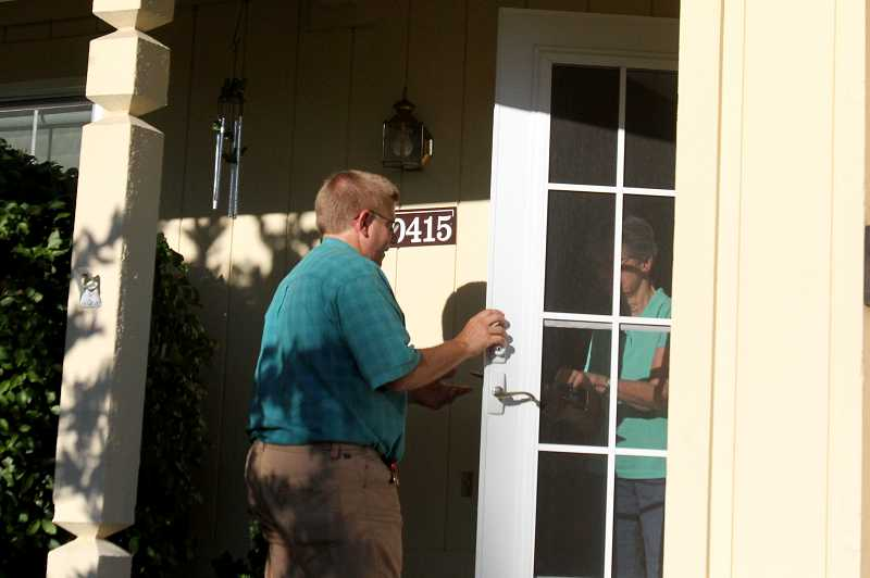 by: JONATHAN HOUSE - Tim Esau spent the summer going door-to-door collecting signatures to stop a proposed high capacity transit line from coming to Tigard. The group collected the necessary signatures to qualify for the March 2014 special election.