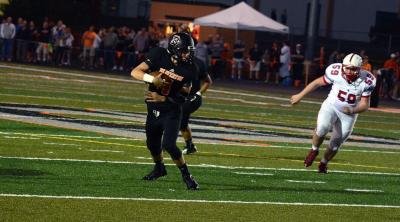by: TIMES FILE PHOTO - Beaverton quarterback Sam Noyer tallied more than 200 yards of total offense in the Beavers 59-14 win over McKay.