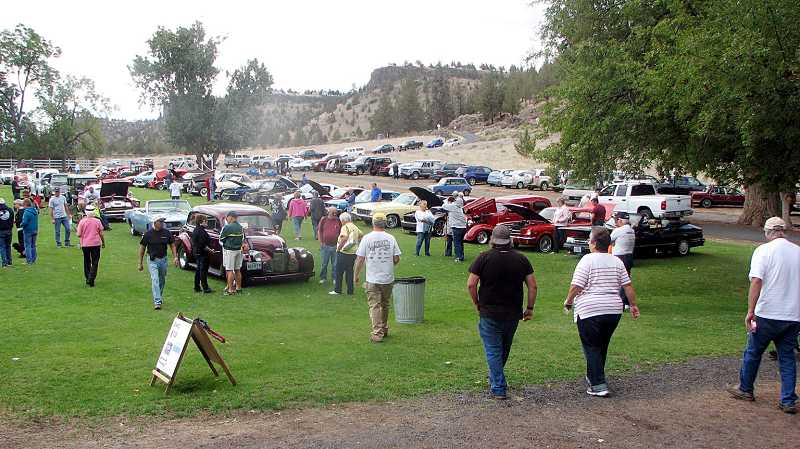 by: SUBMITTED PHOTO - The Crooked River Ranch Seniors held their first car show on Saturday.