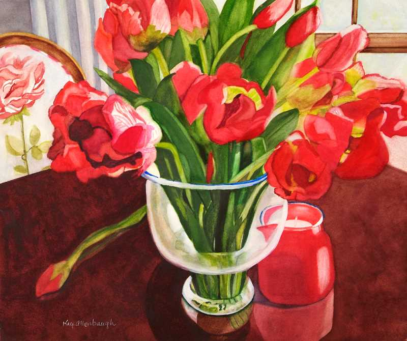 Kay Allenbaugh will show her art at the Painters Showcase this weekend.