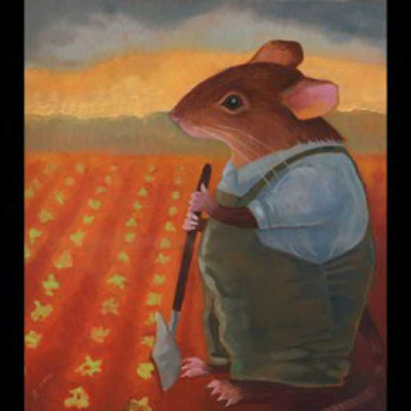 by: SUBMITTED PHOTOS - The theme of the LOCAL 14 art show and sale is Fins, Feathers and Fur. This painting of a mouse in the field is most appropriate.