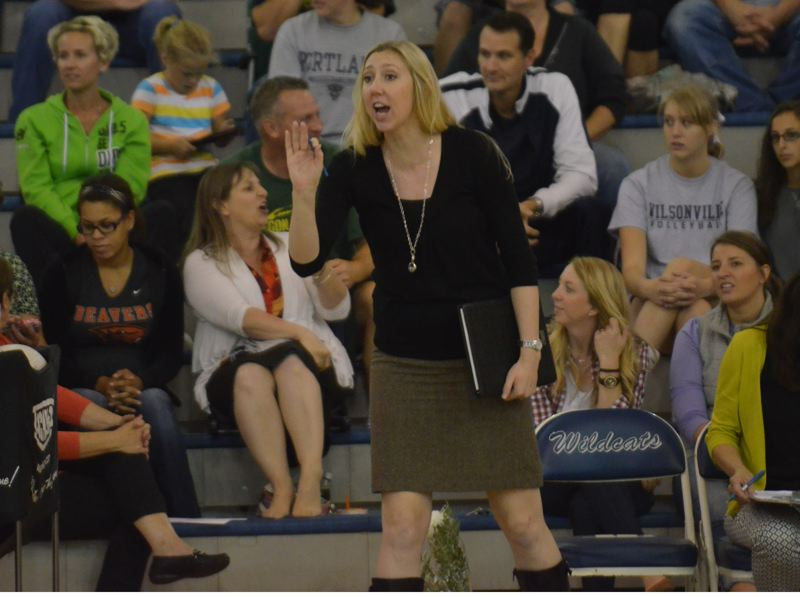 by: JEFF GOODMAN - Kristen Rott, formerly Kristen Forristall, is heading up the volleyball program at Wilsonville High School. The 2004 Oregon City High School graduate helped lead the Pioneers to three state titles in basketball.