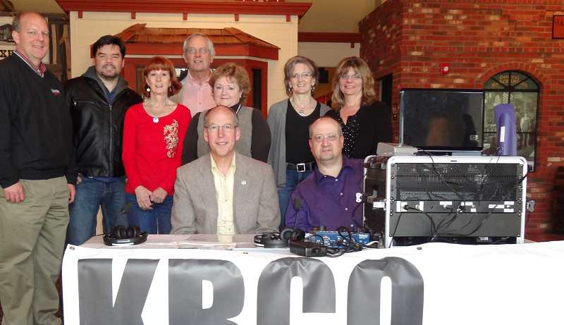 by: CENTRAL OREGONIAN - Prineville Rotarians with Congressman Greg Walden during the 2012 Dollars for Scholars Radioathon. The event raised $13,928 for local scholarships.