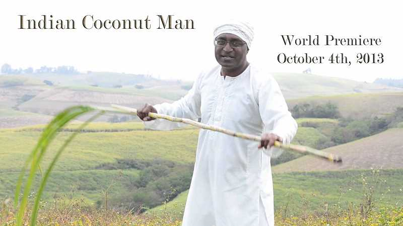 A photo from the music video Indian Coconut Man.
