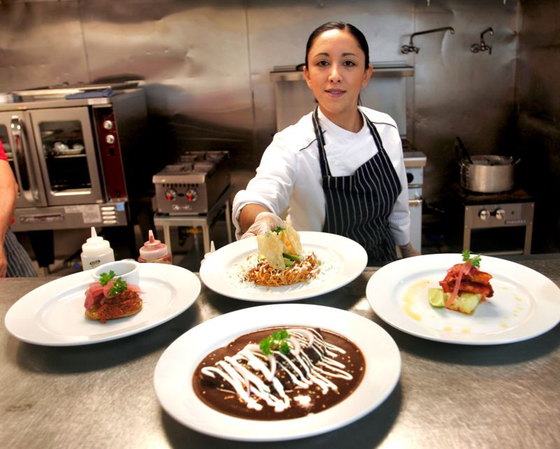 by: OUTLOOK PHOTO: JIM CLARK - Professionally trained chef Montserrat Vazquez uses fresh ingredients and her own creativity to present authentic Mexican and Latin American dishes.