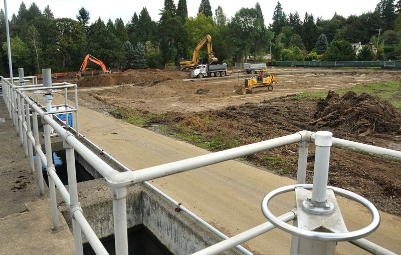 by: VERN UYETAKE - Construction is underway at the water treatment plant in West Linn that Lake Oswego and Tigard are expanding.