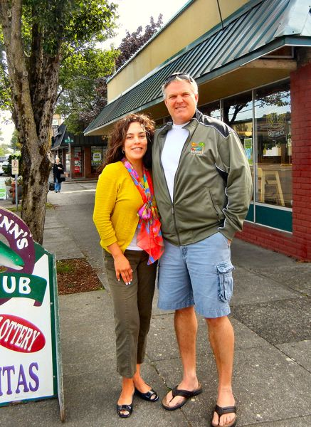 by: ELIZABETH USSHER GROFF - Michael and Berenice Thomas, the new owners of what has been Mickey Finns on Woodstock Boulevard - soon to reopen as a family restaurant, under the name Fenders Moto Café & Brew Pub.