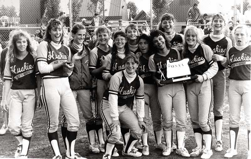 by: COURTESY PHOTO - The 1990 edition of the North Marion softball team, which earned state runner-up honors, will be inducted into the school's athletic hall of fame in a ceremony Oct. 5.