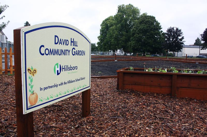 by: HILLSBORO TRIBUNE PHOTO: DOUG BURKHARDT - The city of Hillsboros latest community garden is located right next to the Miller Education Center at 440 S.E. Oak Street. The new site is the citys fourth.